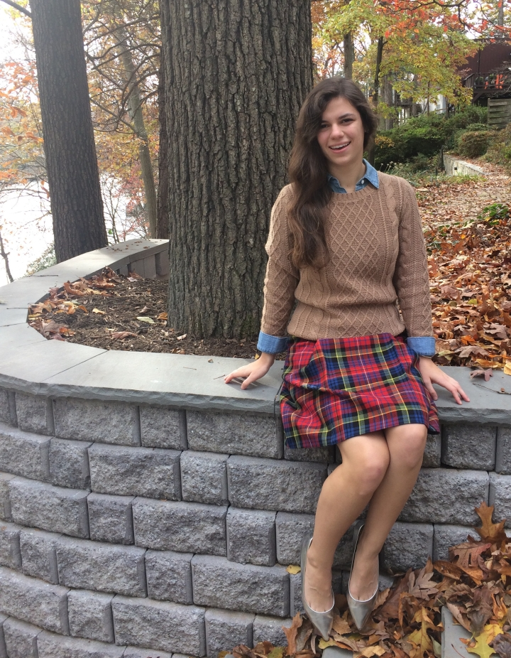 Preppy holiday outfit