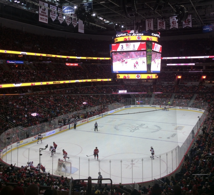 during the hockey game