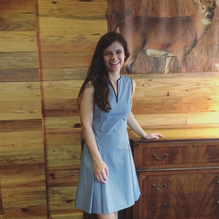 gingham dress at the Graduate Charlottesville