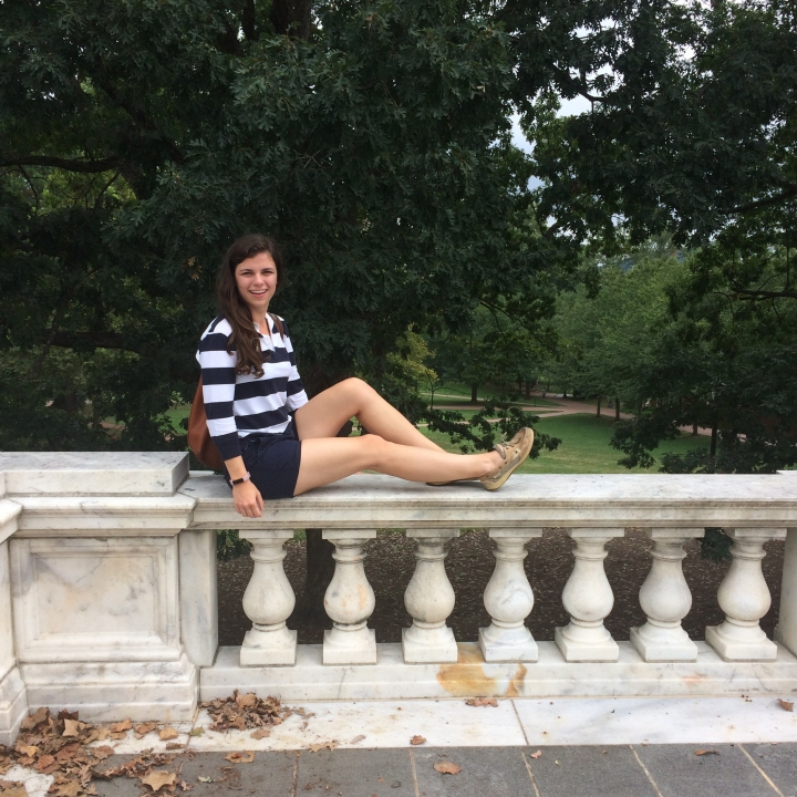Exploring the grounds at UVA