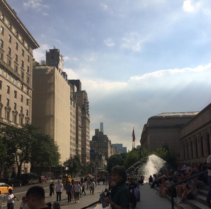outside the metropolitan museum of art