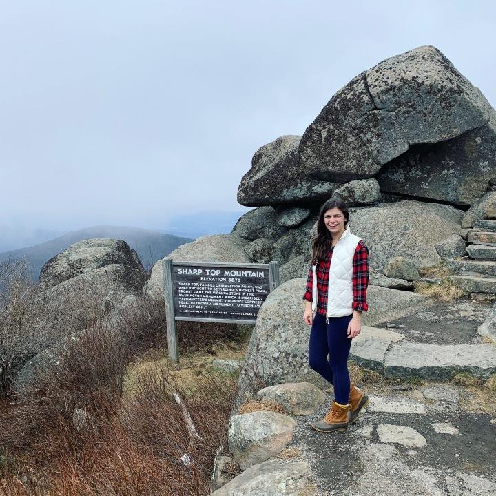 climbing sharptop mountain
