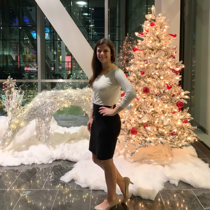 Christmas decorations in uptown Charlotte