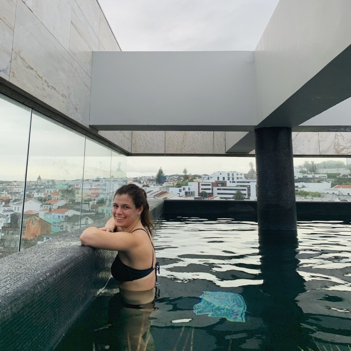 Rooftop pool at Hotel Azor
