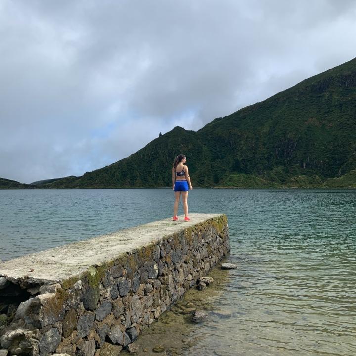 Lagoa do Fogo lakeshore in the Azores