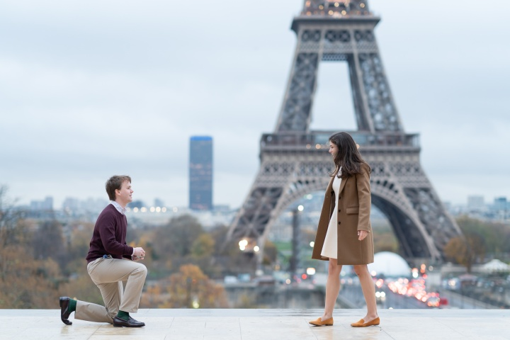 Last-Minute Trip and Engagement in Paris