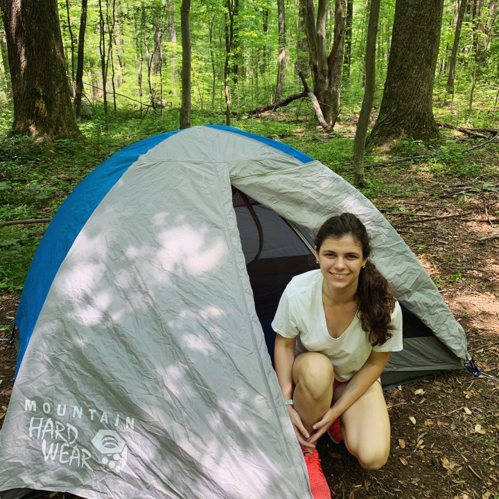 Our tent setup for Old Rag
